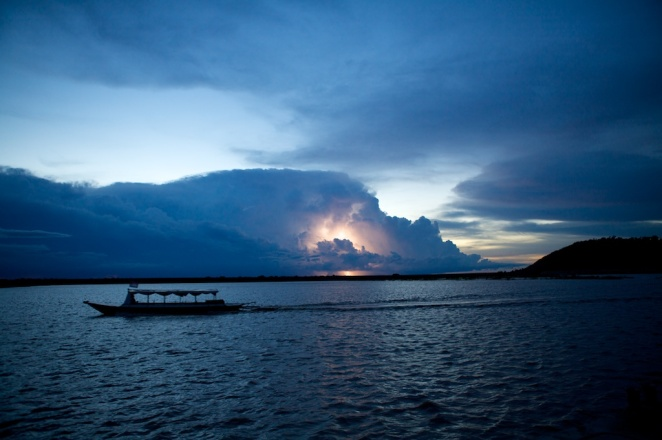 Lightning Storm Over Tonle Sap
