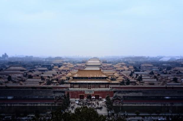 Snow Melting On The Forbidden City