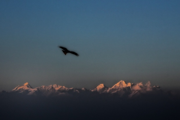 Sunset Over Ganesh Himal